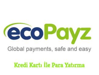 Ecopayz Kredi Kartı İle Para Yatırma