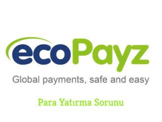 Ecopayz Para Yatırma Sorunu